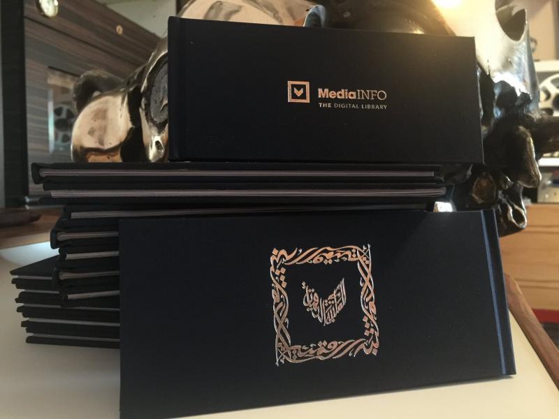 MediaINFO LOGO as Calligraphy